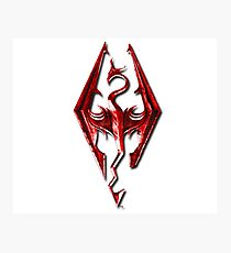 Skyrim - Red Photographic Print