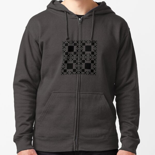 Squares construction Zipped Hoodie