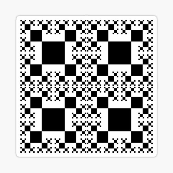 Squares construction Sticker