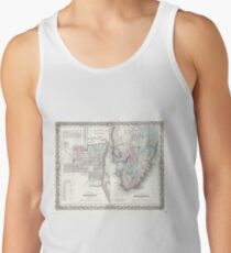 Vintage Map of Savannah and Charleston (1855)  Tank Top