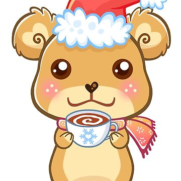 Santa Hat Bear - Merry Christmas! by beaglecakes