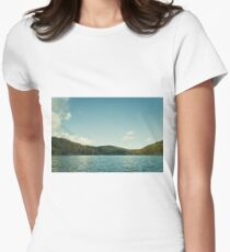 Tranquil lake Women's Fitted T-Shirt