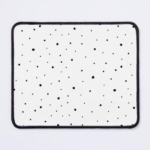 Irregular Dots Pattern - White Mouse Pad