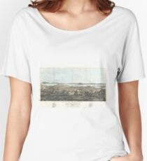 Vintage Pictorial Map of San Francisco (1854)  Women's Relaxed Fit T-Shirt