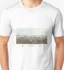 Vintage Pictorial Map of San Francisco (1854)  Unisex T-Shirt