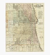 Vintage Map of Chicago (1857) Photographic Print
