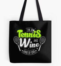 Tennis and Wine Tote Bag