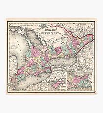 Vintage Map of Ontario (1857)  Photographic Print