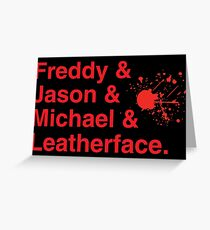 Horror Icons Greeting Card