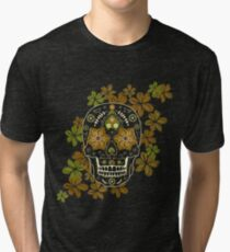 Mexican sugar skull,Day of dead Tri-blend T-Shirt