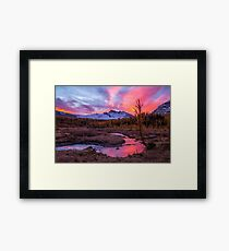 Sunrise over the creek Framed Print