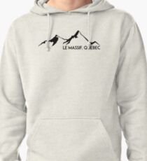LE MASSIF QUEBEC CANADA QUÉ BEC SKIING SKI MOUNTAINS SNOWBOARD Pullover Hoodie