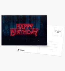 Fremde Dinge - alles Gute zum Geburtstag Postkarten