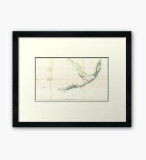 Vintage Map of The Florida Keys (1859) Framed Print