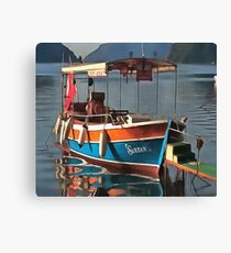 Sultan Taxi Boat Marmaris Canvas Print