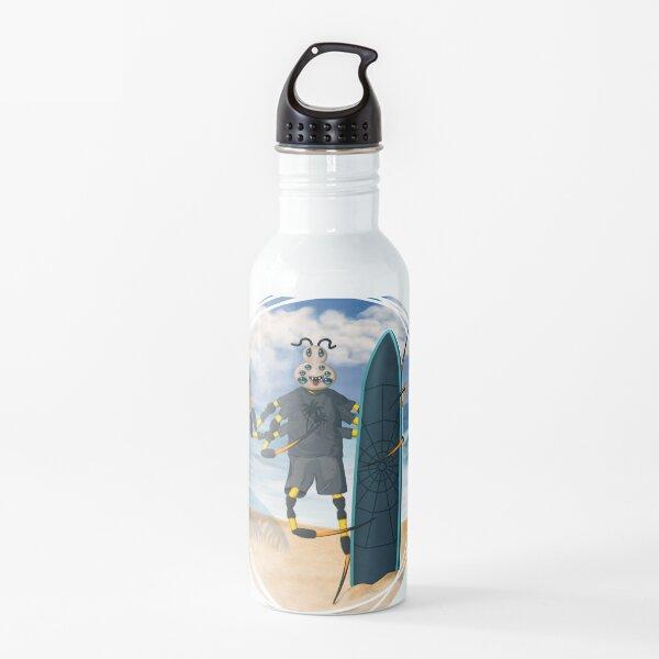 Surfing Spider Dude  - Summer Beach Adventure Water Bottle