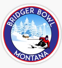 SKIING BRIDGER BOWL MONTANA MOUNTAIN SNOWBOARD SKI SNOWBOARDING HIKING CLIMBING 4 Sticker