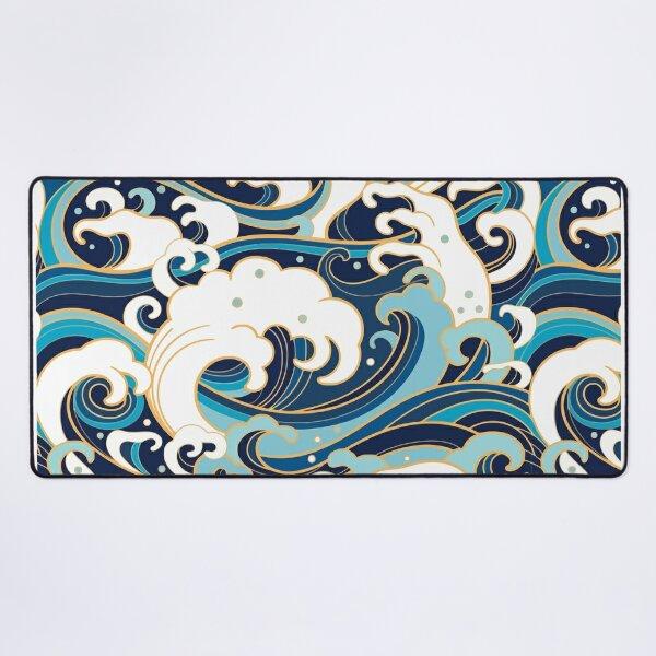 pattern of ocean waves Desk Mat