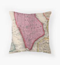 Cojín Vintage Map of Lower New York City (1860)