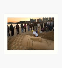 Sand Buddha - Busan, South Korea Art Print