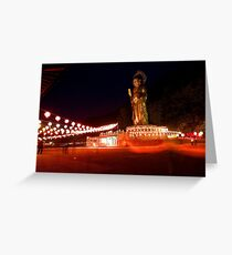 Bronze Giant - Beopjusa, South Korea Greeting Card