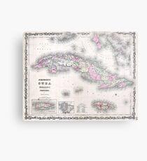 Vintage Map of Cuba (1861) Metal Print