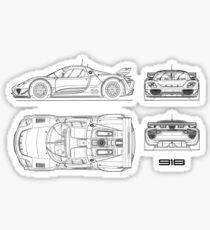 Porsche 918 Spyder Stickers Redbubble