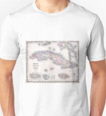 Vintage Map of Cuba (1861) Unisex T-Shirt