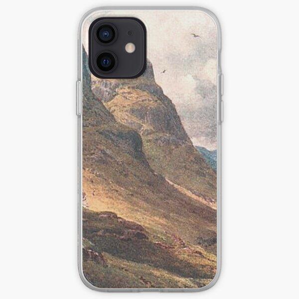 Vintage Illustration of Glencoe, Scottish Highlands iPhone Soft Case