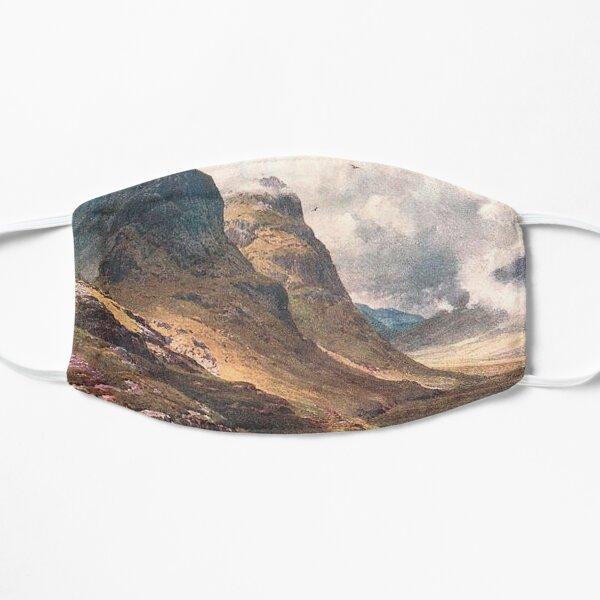 Vintage Illustration of Glencoe, Scottish Highlands Flat Mask