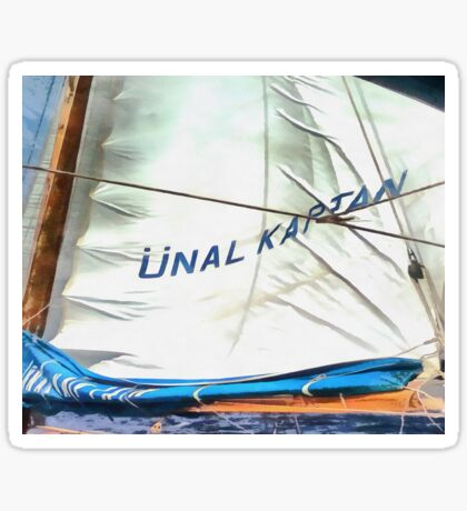 The Sails Of Unal Kaptan Sticker