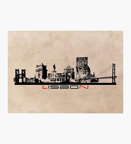 Lisbon elegant skyline Photographic Print