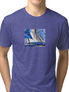 A Sailor Is An Artist And His Medium The Wind Tri-blend T-Shirt