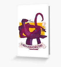 i need a dovahkiin(g) size bed Greeting Card