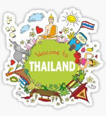 Welcome to Thailand . Set Thai elements. Sticker