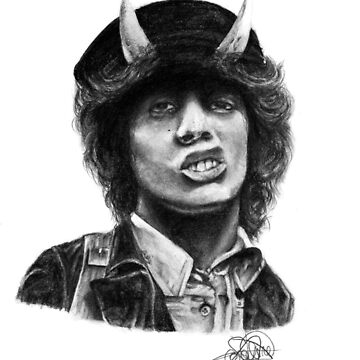 Angus Young - AC/DC by PsychoLunatic