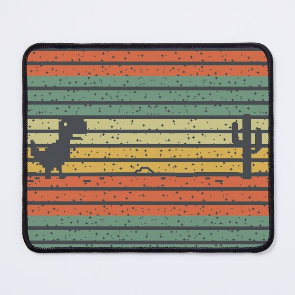 Dino Run Stary and Colorful Mouse Pad