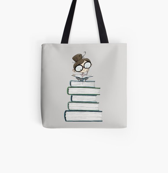 Itty Bitty Book Lover  All Over Print Tote Bag