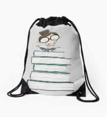Itty Bitty Book Lover  Drawstring Bag