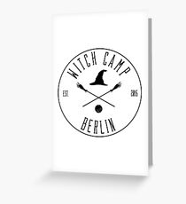 Witch Camp Berlin (black) Greeting Card