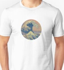 great wave off kanagawa (color) Unisex T-Shirt