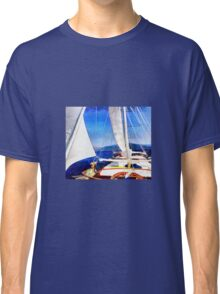 Land Was Created For Boats To Visit Classic T-Shirt