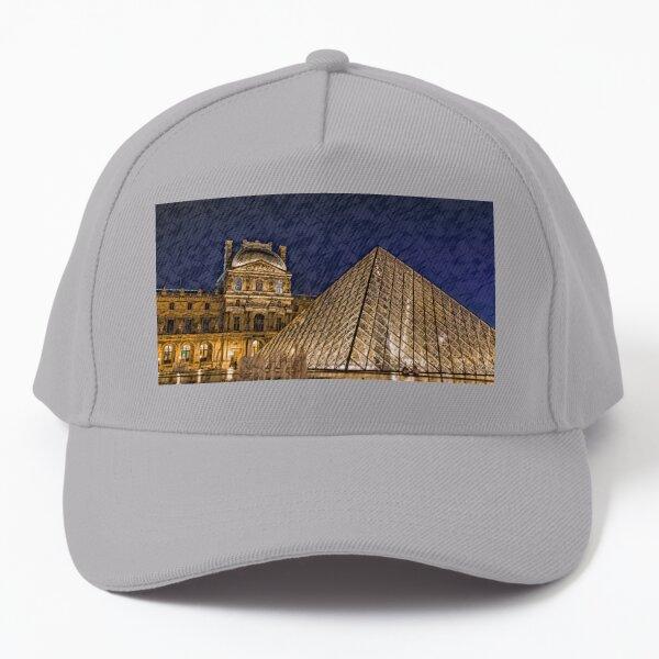 Louvre at Night Baseball Cap