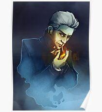 Ghostly Smoking Poster
