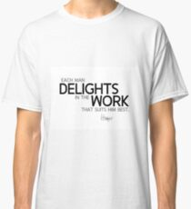 delights in the work - homer Classic T-Shirt
