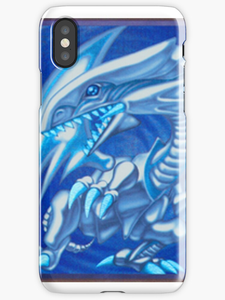 Blue eyes white dragon by DopeAFCards