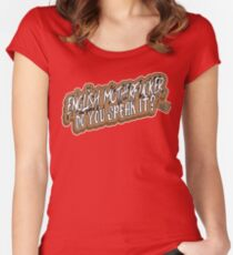 English Motherfucker! Women's Fitted Scoop T-Shirt