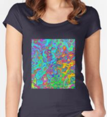 Psychedelic Spring Women's Fitted Scoop T-Shirt