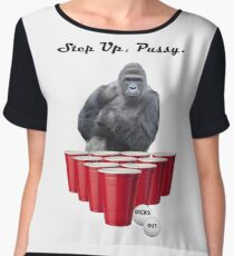 Harambe Beer Pong Step Up Women's Chiffon Top
