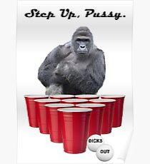 Harambe Beer Pong Step Up Poster